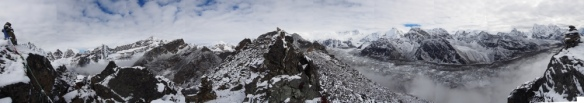 A 360-degree panorama from the top of Gokyo Ri