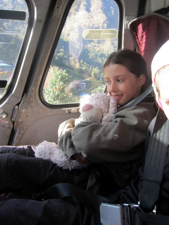 Scarlett Onboard the Helicopter