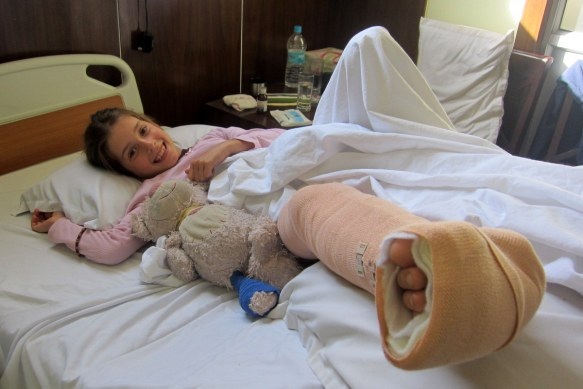 Scarlett in Her Hospital bed