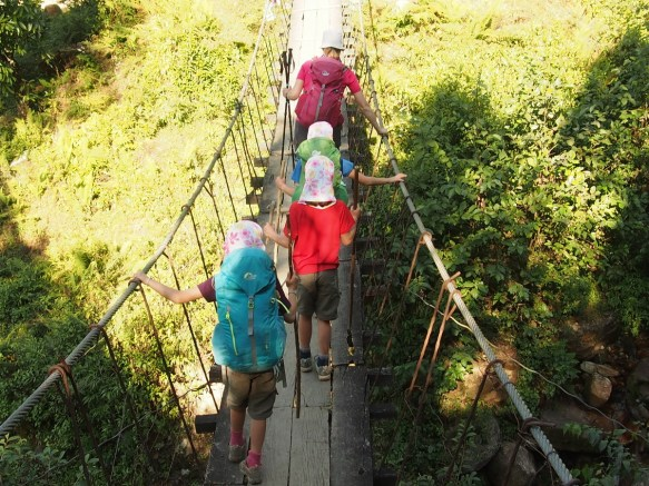 Suspension Bridge on Annapurna Base Camp Trek