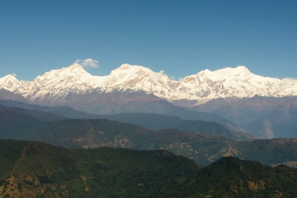 Himalaya Range from a Helicopter
