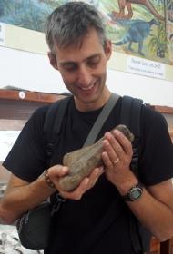 Ferg Holding a T-Rex Bone