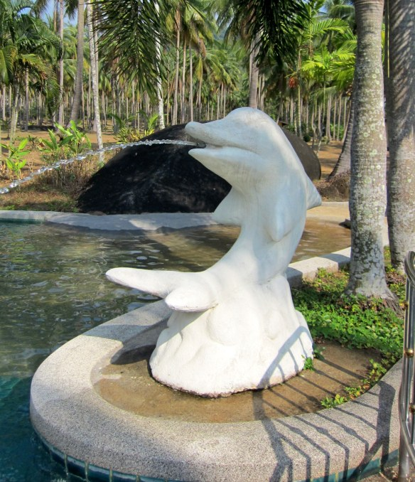 Complete with dolphin water features