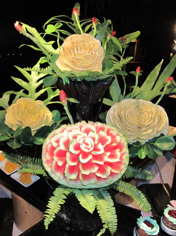 Fruit carving at the posh hotel