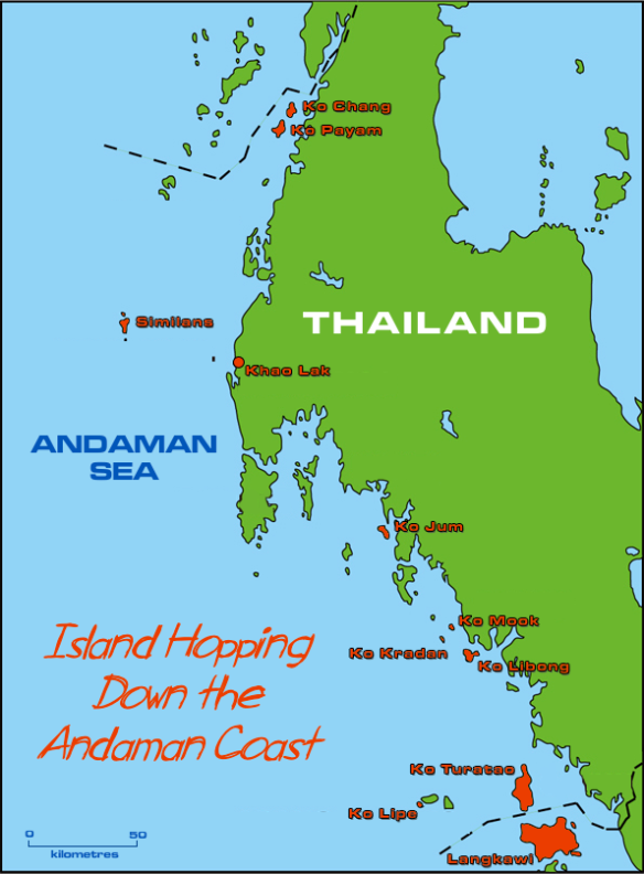 Andaman Coast Island Hopping Map