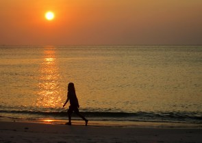 Jemima enjoying sunset on Ko Tarutao