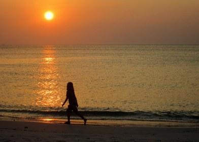 Jemima enjoying sunset on Ko Tarutao