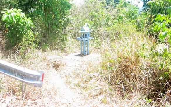 The spirit shrine where Scarlett came off her bike