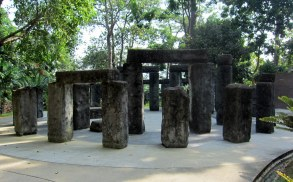 Home from home, a replica Sonehenge in Lakeside Gardens