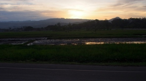 Roadside sunset on the bus from Cebu to Dumaguete