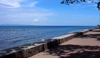 The promenade on Dumaguete seafront
