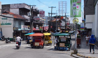 Trikes on Dumaguete's main road