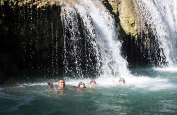 Splashing Around at Cambugahay Waterfalls