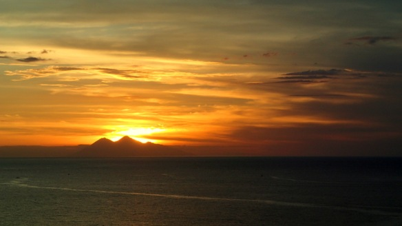 The famously-beautiful Flores sunset. Best enjoyed with a very well-earned beer.