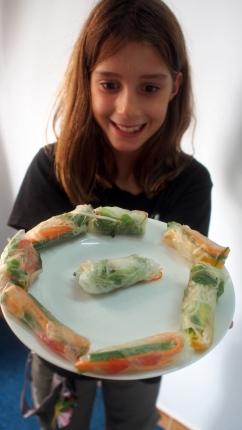 Jemima's spring rolls