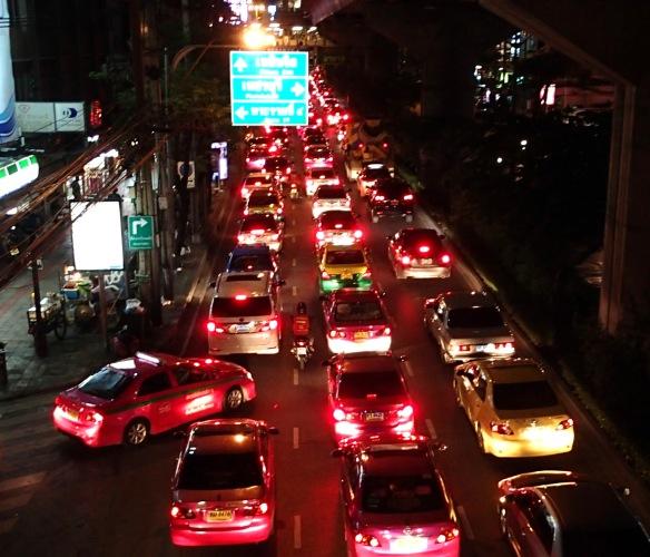 Definitely look before crossing the road in Bangkok