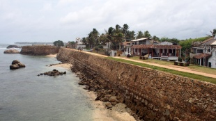 The fortress wall is what protected Galle from the ravages of the Boxing Day Tsunami in 2004